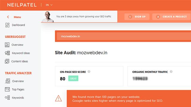 SEO Checkup for web development company in kolkata