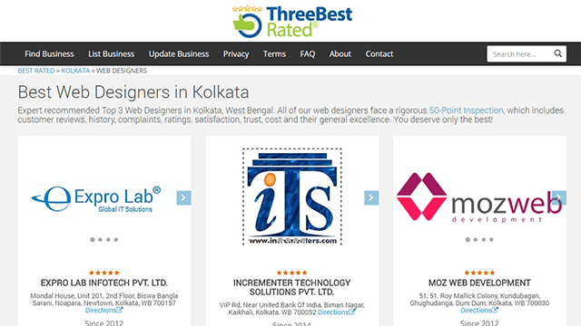 Top 3 web development company in kolkata